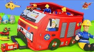 Carrinho de bombeiros - Bombeiro Sam  e carrinhos - Fireman Sa…