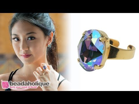 How To Make A Ring With Gita Settings For Swarovski Crystals