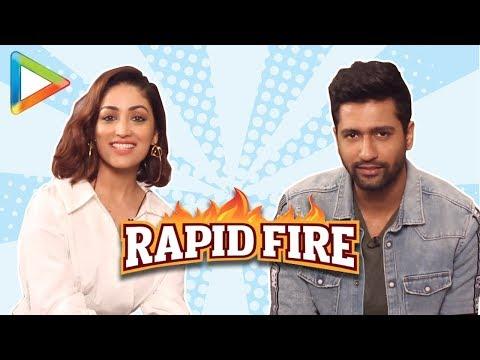 Vicky Kaushal: 鈥淩anbir Kapoor 鈥� I Love You鈥� | RAPID FIRE | Yami Gautam | URI