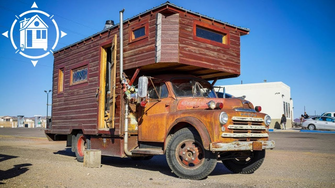 ultimate house truck created from recycled materials by nomad artist rh youtube com house trucks for sale nz house truck
