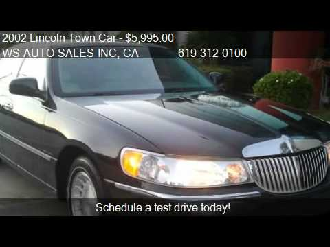 2002 Lincoln Town Car Executive Series For Sale In El Cajon Youtube