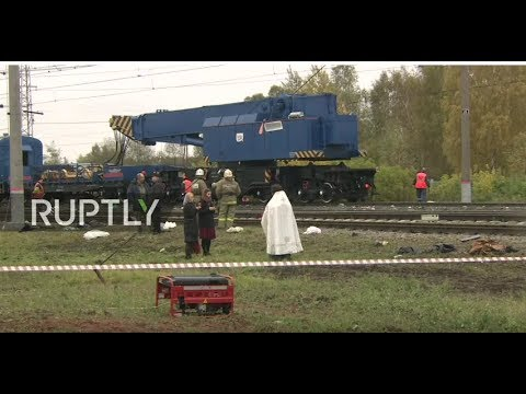 LIVE: Train collides with bus in Vladimir region - aftermath