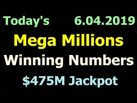 Today Mega Millions Winning Numbers 4 June 2019 Tuesday. Tonight Mega Millions Drawing 6/04/2019