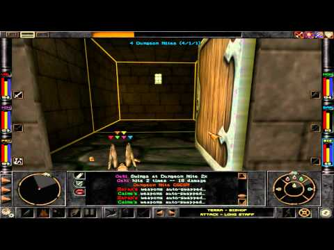 Wizardry 8 (HD) - Dungeon Mites and a Thrasher Apus |