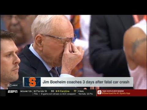 ESPN Analyst REACTION to Syracuse HC Jim Boeheim 'HEARTBROKEN' after fatal car crash | SportsCenter