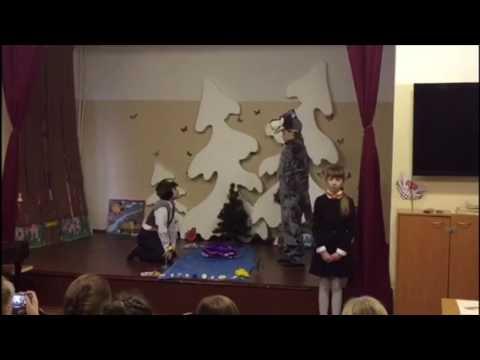 Изображение предпросмотра прочтения – «Трио 4 класса» читают произведение «Волк и Ягнёнок» И.А.Крылова