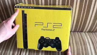 Sony PS 2 Slim.Розпакування повній комплектації (як з магазину)+вертикальна підставка FF 12