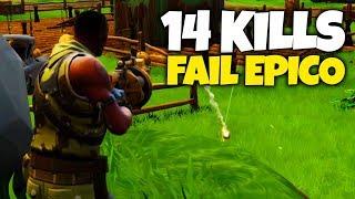14 KILLS Y FAIL ÉPICO (Fortnite Battle Royale)