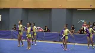 2015年全港學界藝術體操比賽 小學集體五圈