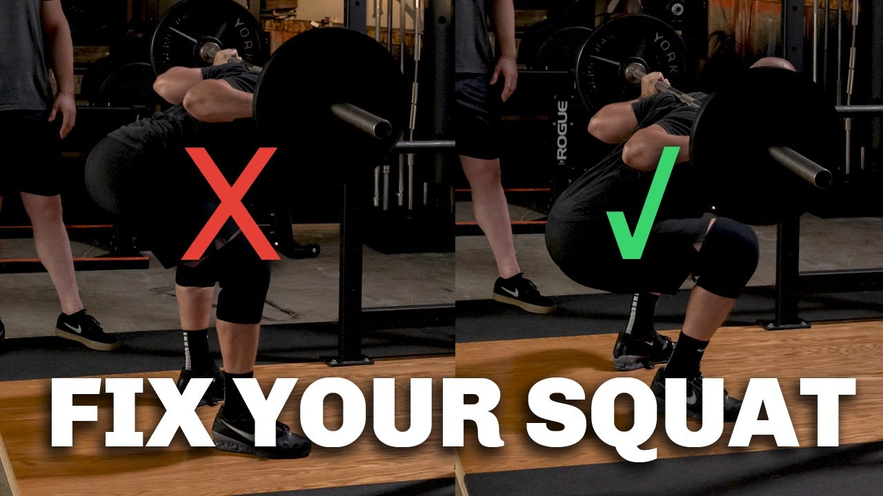"How To Fix the ""Good Morning"" Squat - Leaning Over Too Much?"