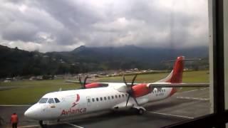 Llegada De Un ATR 72-600 De Avianca En Manizales