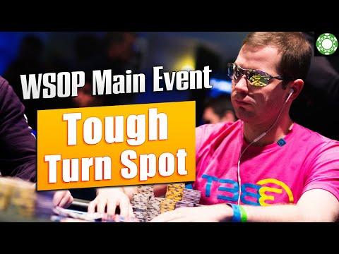Tough Turn Spot With Flush Draw! [WSOP Main Event]