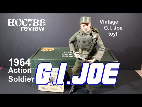 HCC788 - 1964 Action Soldier G.I. JOE! Vintage G.I. Joe toy review! HD