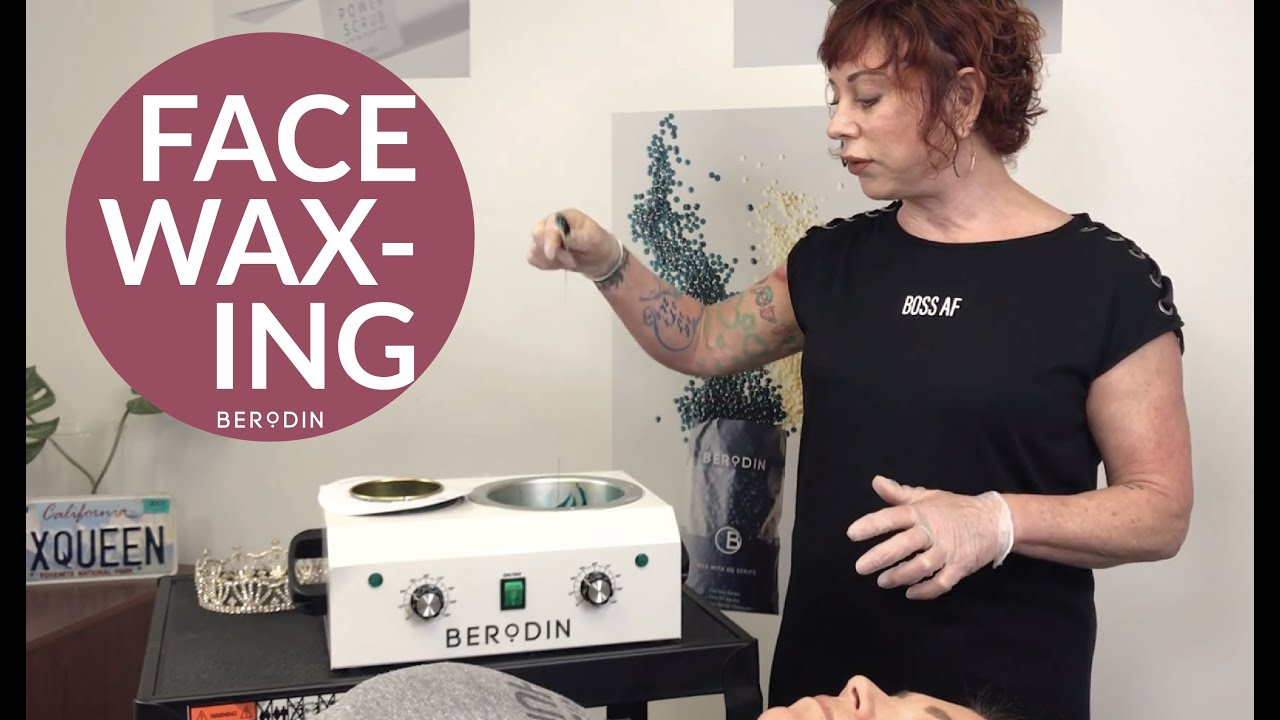 Face Wax with Berodin Blue and The Wax Queen