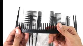 10 Kinds of Hair Combs- Lazada 10 Professional Hair Comb Set