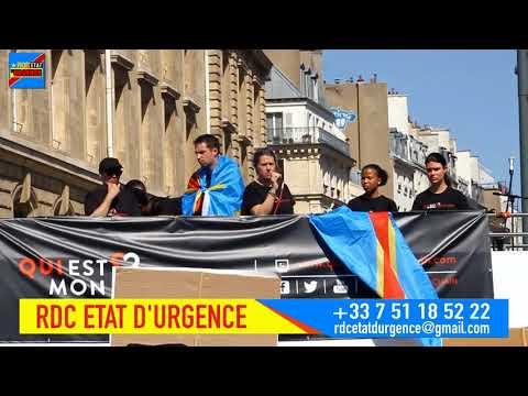 RDC Etat d'Urgence : Marche du 21 avril à Paris,  le Congo RDC, Partie 1