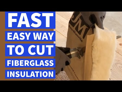Cut Fiberglass Insulation Fast Easy Way DIY