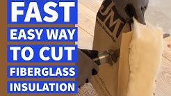 Cut Fiberglass Insulation Fast Easy Way DIY