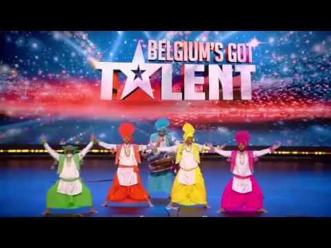 Amazing Indian Dance In VTM Belgium's Got Talent   Punjabi Bhangra Bollywood Dance