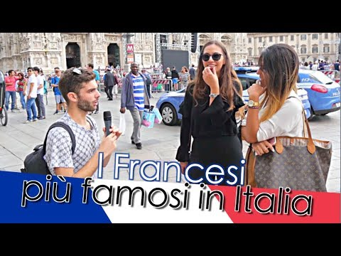 """""""Chi sono i francesi più famosi in Italia ?"""" Domande a Milano/Bologna -thepillow"""