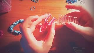 Видеоурок по плетению из резиночек || Французкая коса на рогатке||