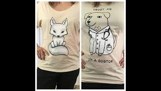 """Redbubble Bestellung - T-Shirts von Sammyfim """"Foxy"""" und Obinsun """"Dogtore"""""""