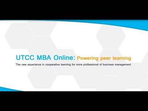 UTCC MBA online : Powering peer learning