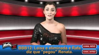 Repeat youtube video BBB12: Laisa é eliminada com 88%. Rafa pegou Renata embaixo do edredom.