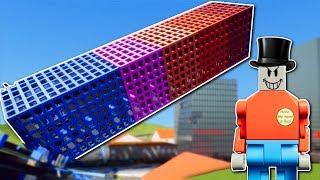 CRAZY MAYOR DESTROYS LEGO SKYSCRAPER! - Brick Rigs Gameplay - Lego Destruction Workshop Creations