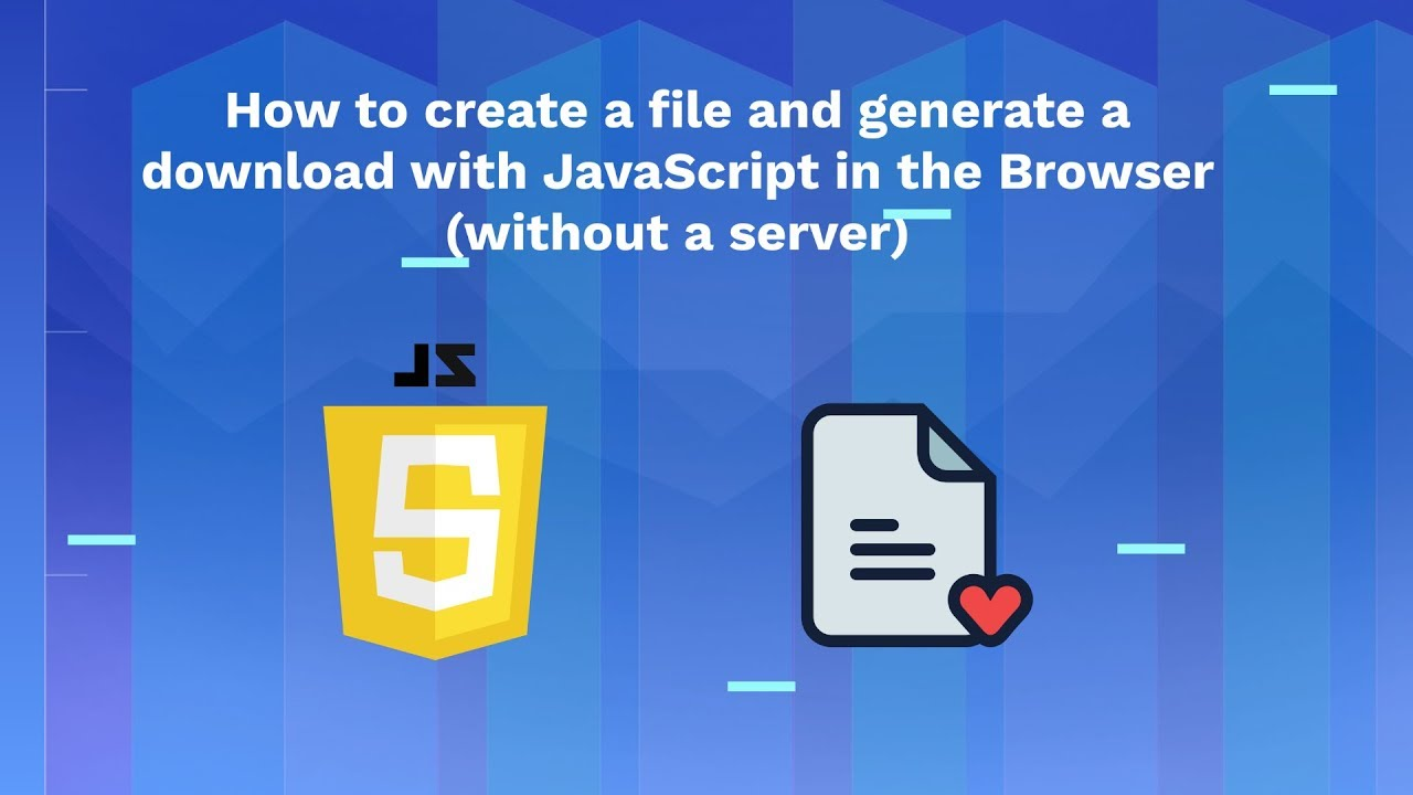 How to create a file and generate a download with Javascript in the