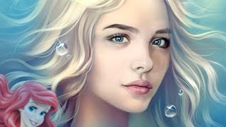 Chloe Moretz as The Little Mermaid - Chloe Moretz como A Pequena Sereia, Adaptação