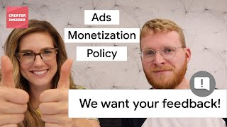 👆WE WANT YOUR FEEDBACK 💸 Ads Monetization Policy Help Materials