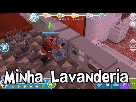 The Sims Freeplay: Prêmios da Lavanderia de Luxo e fazendo minha lavanderia
