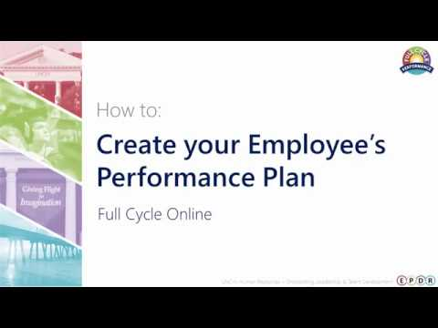 How to Create your Employee's Performance Plan (Full Cycle Online)
