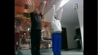 Тренировка И.Ильина и М.Абенова начинается с Айкуне...