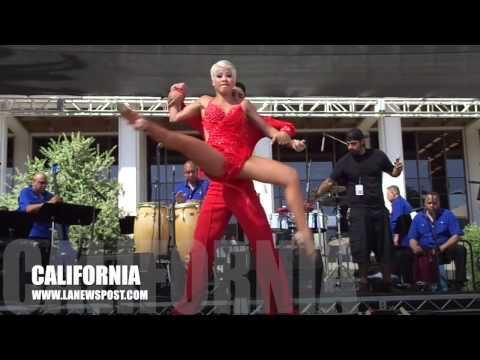 Adrianita and Jefferson at Los Angeles Grand Park