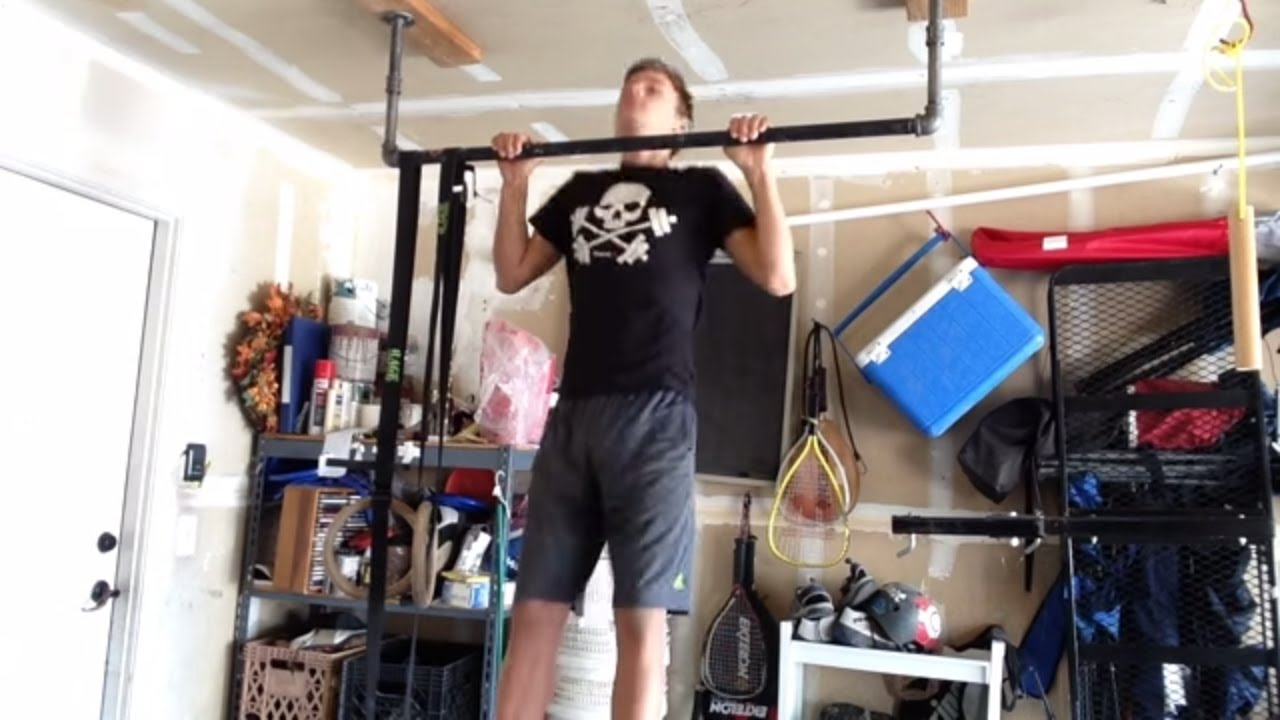 how to build a homemade pull up bar super easy youtube