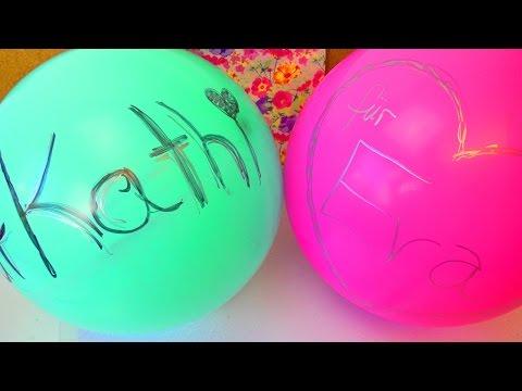 MEGA ÜBERRASCHUNG Super coole Geburtstagsidee | Eva und Kathi befüllen Luftballons | Piñata