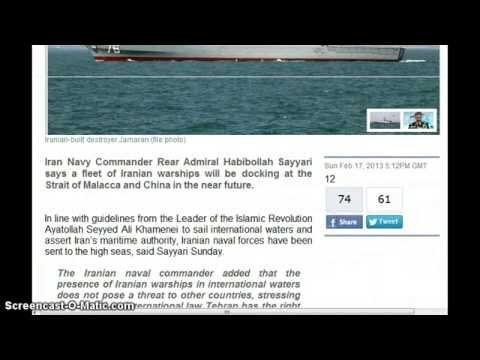 Iranian warships to dock at Chinese ports