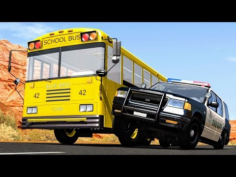 Thumbnail: Crazy Police Chases #5 - BeamNG Drive Crashes