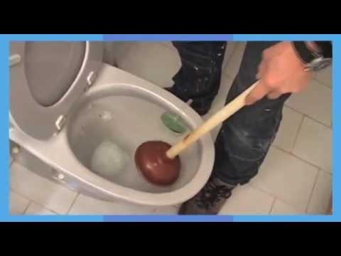 Praxis laat zien hoe je een toilet kunt ontstoppen