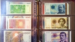 my genuine uncirculated world banknote collection with some rare highest denominations