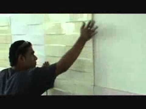 Instalacion de paneles decorativos relieves youtube - Paneles 3d para pared ...