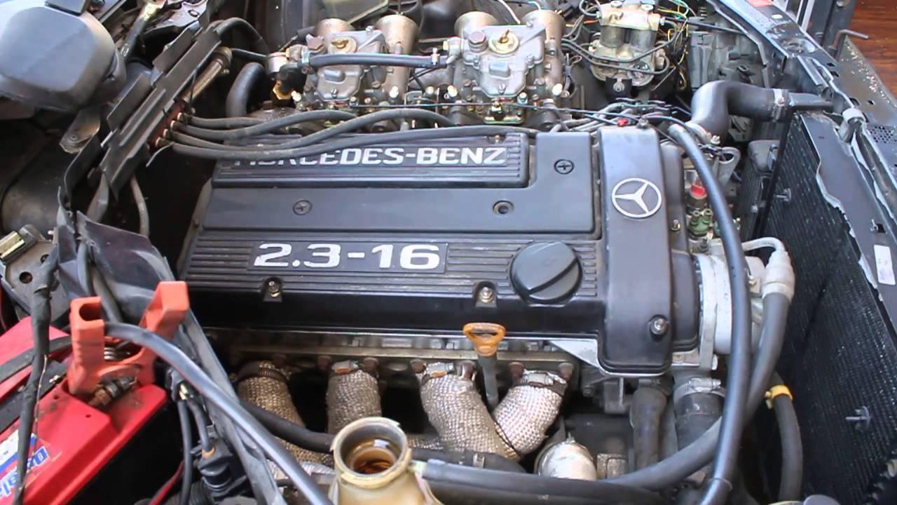 1987 mercedes benz 190e 2 3l 16v sedan 4 door cosworth idling [ 1280 x 720 Pixel ]
