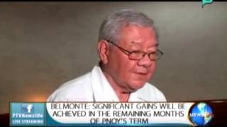 Belmonte: Significant gains will be achieved in the remaining months of PNoy