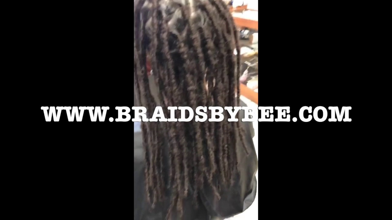 Instantloc Dread Extensions On Curly Straight Hair Texture Youtube
