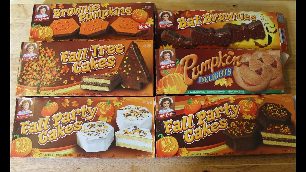 Little Debbie Halloween Or Fall Haul Food Review Youtube