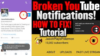 youtube notifications not working how to fix tutorial 2016 stream video notifications