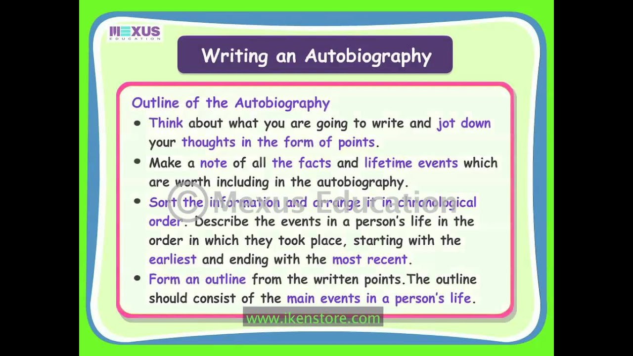 Writing an autobiography essay