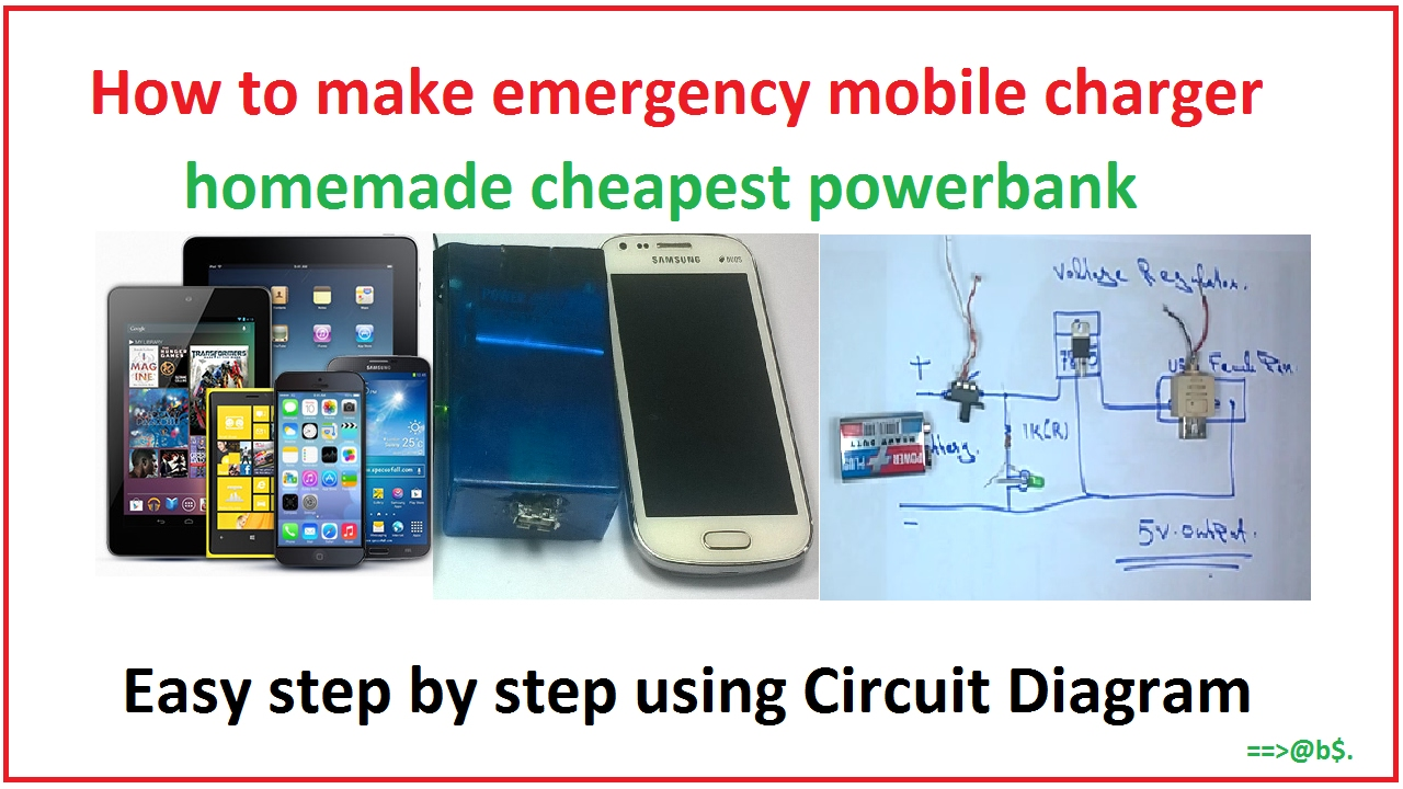 How To Make Powerbank At Home Easy Step By Step With Circuit - Circuit diagram make